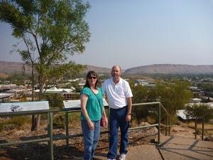Steve and Lisa Overlooking Alice Springs