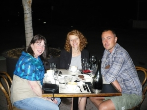 Dinner with Phill and Caroline